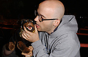 Moby backstage at the 2002 MTV Video Music Awards at Radio City Music Hall in New York City, August 29, 2002. Photo by Frank Micelotta/ImageDirect.