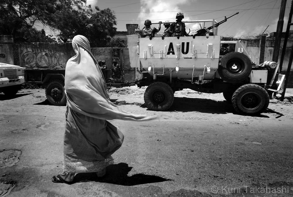 Somalia civil war conflict, refugees in 2007.