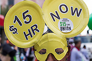 Fast food workers protest for higher pay in Los Angeles