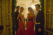 ROZANNA  AND WERONIKA MISIUREWICZ AND JOHN RODRIGO AND FELIPE OLAECHEA. Crillon Debutante Ball 2007,  Crillon Hotel Paris. 24 November 2007. -DO NOT ARCHIVE-© Copyright Photograph by Dafydd Jones. 248 Clapham Rd. London SW9 0PZ. Tel 0207 820 0771. www.dafjones.com.
