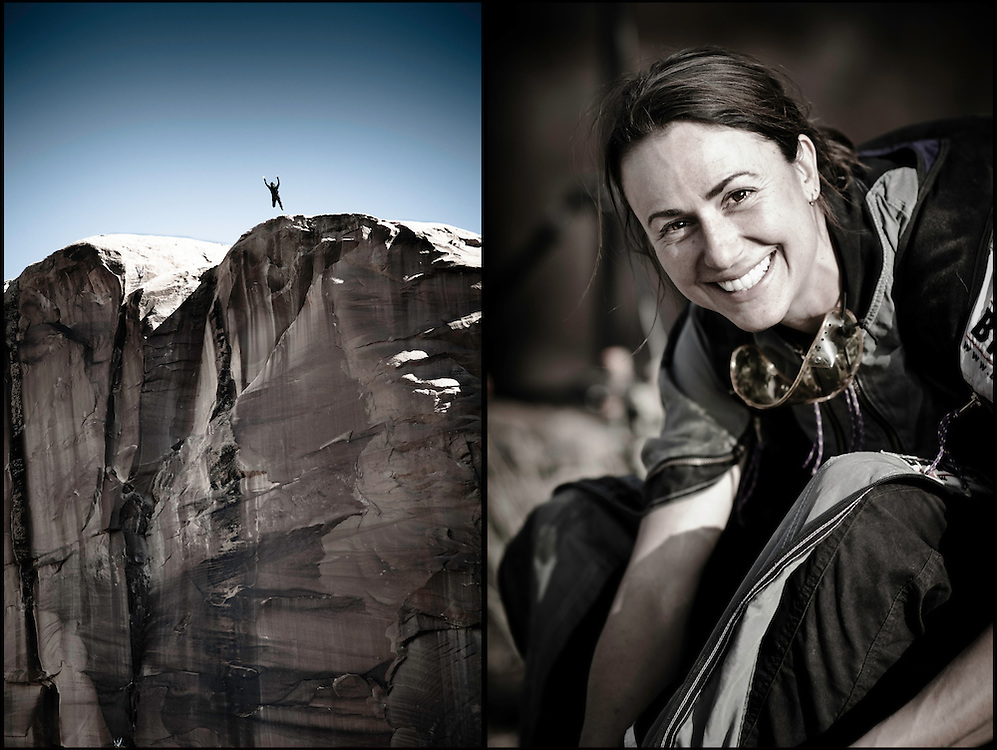 Steph Davis is an expert at climbing up and jumping off big cliffs with a smile.