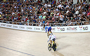 A general view of the crowd during the UCI Cycling World Cup at the Avantidrome, Cambridge, New Zealand, Sunday, December 06, 2015. Credit: Dianne Manson/CyclingNZ/UCI