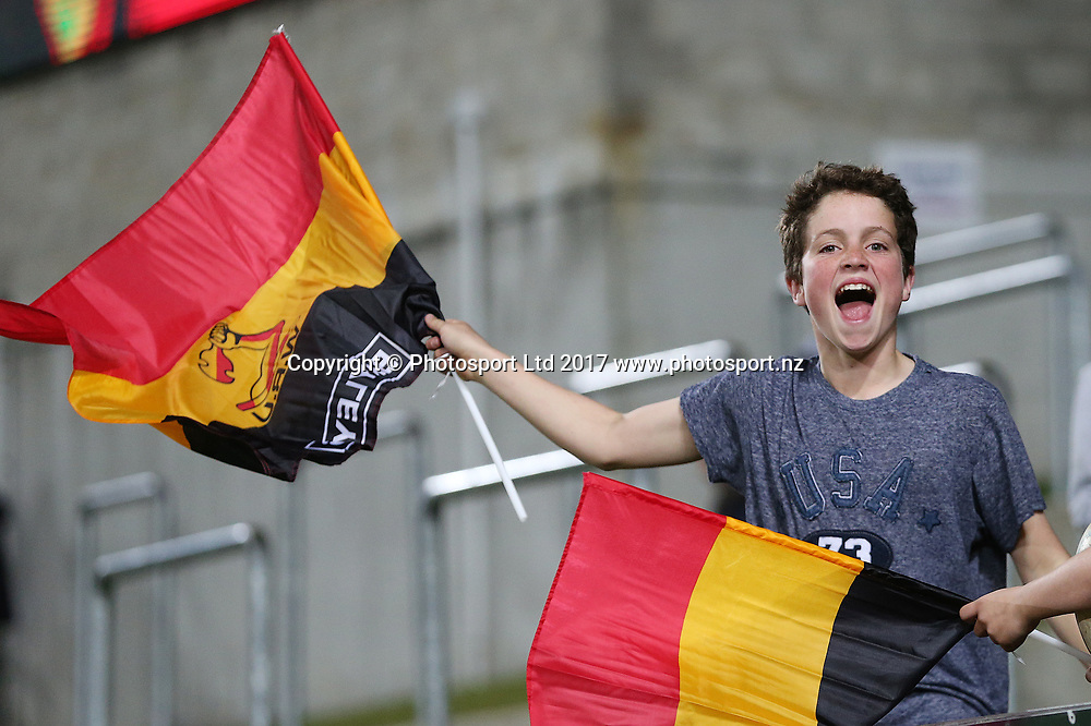 Waikato fan during the Mitre 10 Cup Rugby match - Waikato v Counties played at FMG Stadium Waikato, Hamilton, New Zealand on Friday 25 August 2017.  Copyright photo: © Bruce Lim / www.photosport.nz