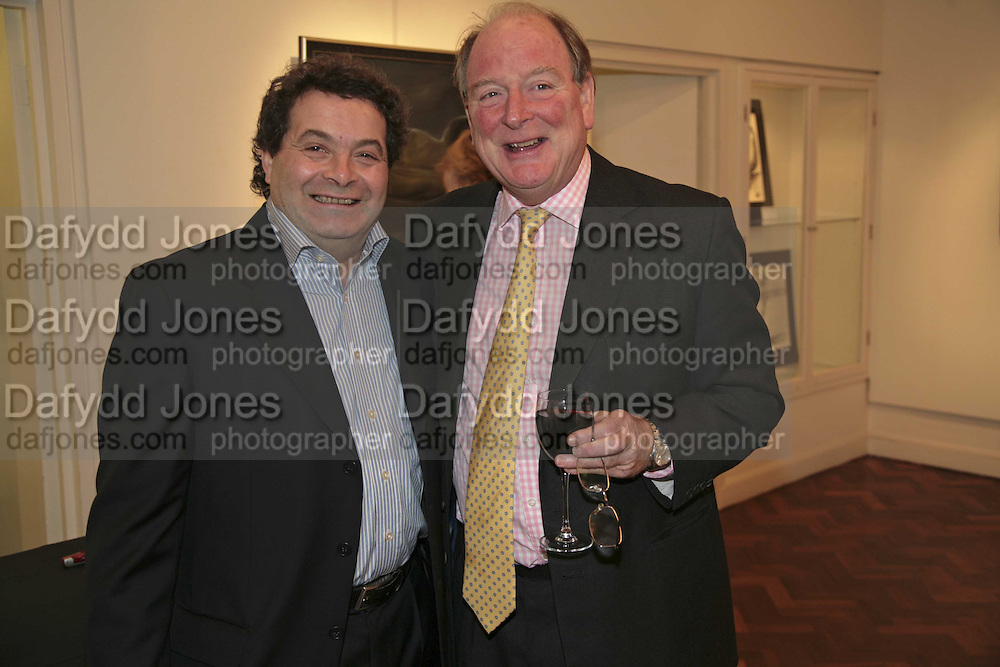 Michael  Rogatchi and Christopher James, The Real Dream, private view for an exhibition of work by Michael Rogatchi. Cork St. London.  5 December 2006. ONE TIME USE ONLY - DO NOT ARCHIVE  © Copyright Photograph by Dafydd Jones 248 CLAPHAM PARK RD. LONDON SW90PZ.  Tel 020 7733 0108 www.dafjones.com