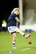 Faf De Klerk practice kicks during the European Rugby Challenge Cup match between Sale Sharks and Toulouse at the AJ Bell Stadium, Eccles, United Kingdom on 13 October 2017. Photo by George Franks.