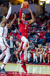 NORMAL, IL - December 18: Michael Diggins gets past defender Keith Fisher III during a college basketball game between the ISU Redbirds and the UIC Flames on December 18 2019 at Redbird Arena in Normal, IL. (Photo by Alan Look)