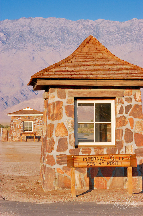 Sentry stations at the entrance to Manzanar War Relocation Center (National Historic Site), Owen's Valley, California