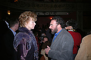 Edna O'Brien and Tony Sher, Opening night of Embers, Duke of York's theatre. St. Martin's Lane. London. 1 March 2006. ONE TIME USE ONLY - DO NOT ARCHIVE  © Copyright Photograph by Dafydd Jones 66 Stockwell Park Rd. London SW9 0DA Tel 020 7733 0108 www.dafjones.com