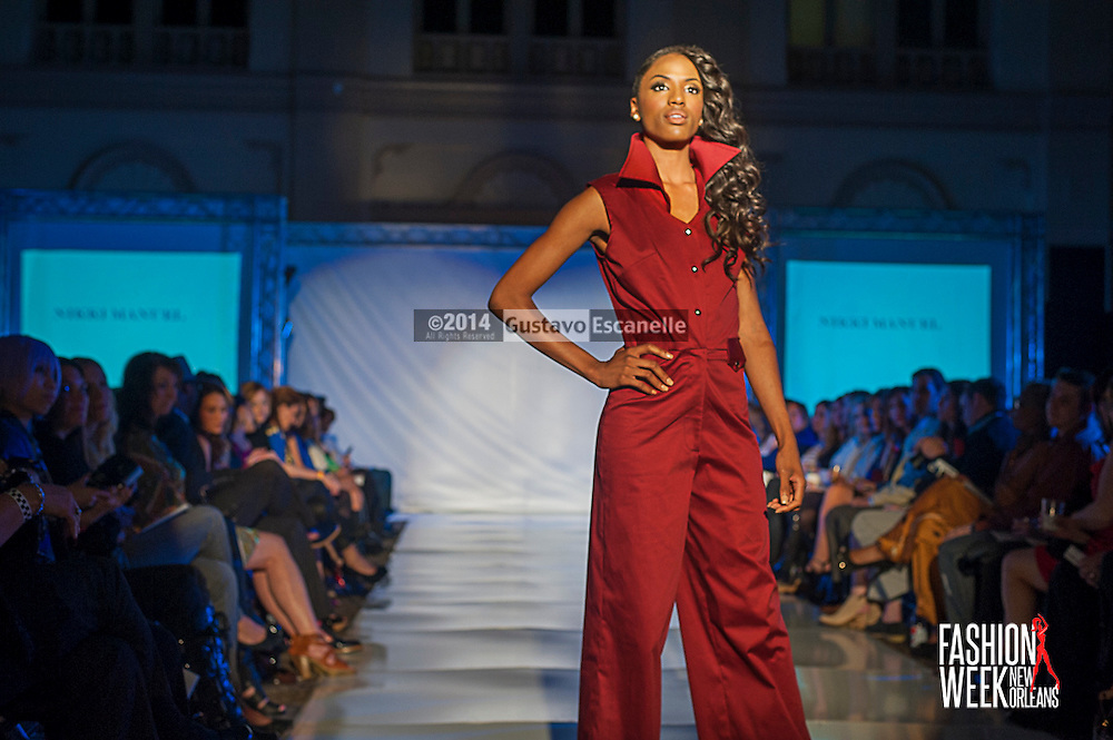 FASHION WEEK NEW ORLEANS: Designer Nikki Manuel show case her design on the runway at the Board of Trade, Fashion Week New Orleans on Wednesday March 19. 2014. #FWNOLA, #FashionWeekNOLA, #Design #FashionWeekNewOrleans, #NOLA, #Fashion #BoardofTrade, #GustavoEscanelle, #TraceeDundas #DominiqueWhite . View more photos at <br /> http://Gustavo.photoshelter.com.