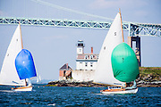 Surprise and Whistler, S Class, sailing in the Museum of Yachting Classic Yacht Regatta, day one.