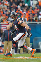 25 November 2012: Linebacker (54) Brian Urlacher of the Chicago Bears in game action against the Minnesota Vikings during the second half of the Bears 28-10 victory over the Vikings in an NFL football game at Soldier Field in Chicago, IL.