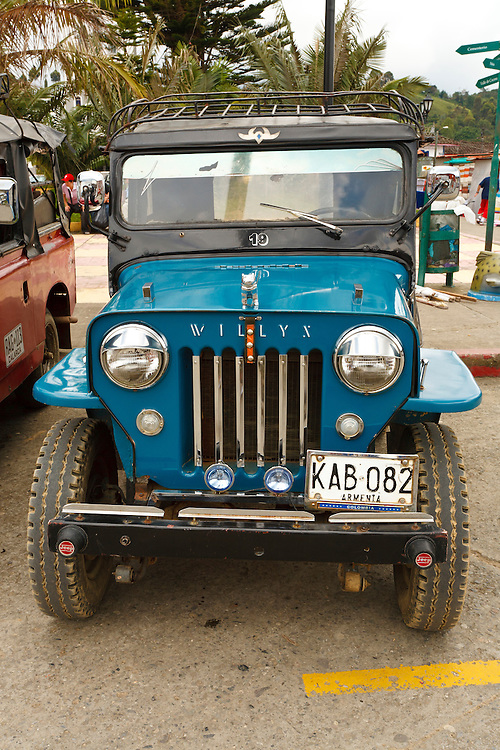 Decorated Willys cj Jeep, Salento, Armenia, Colombia, South America