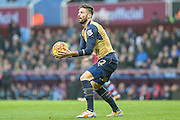 Arsenal's Olivier Giroud claims he took the ball during the Barclays Premier League match between Aston Villa and Arsenal at Villa Park, Birmingham, England on 13 December 2015. Photo by Shane Healey.