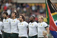 11 June 2016, South African players ahead of the South Africa versus Ireland Test Match at Newlands Stadium,  Cape Town, SOUTH AFRICA.<br /> <br /> <br /> Photo by:Luigi Bennett/Image SA