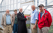 Ribbon cutting for the new greenhouse at the Ohio University West State Street Gardens on April 30, 2015.  Photo by Ohio University  /  Rob Hardin