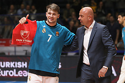 Luka Doncic of Real Madrid during basketball match between Crvena Zvezda mts Belgrade and Real Madrid in Round #29 of Euroleague 2017/18, on March 30, 2018 in Hala Pionir, Belgrade, Serbia. Photo by Marko Metlas / Sportida