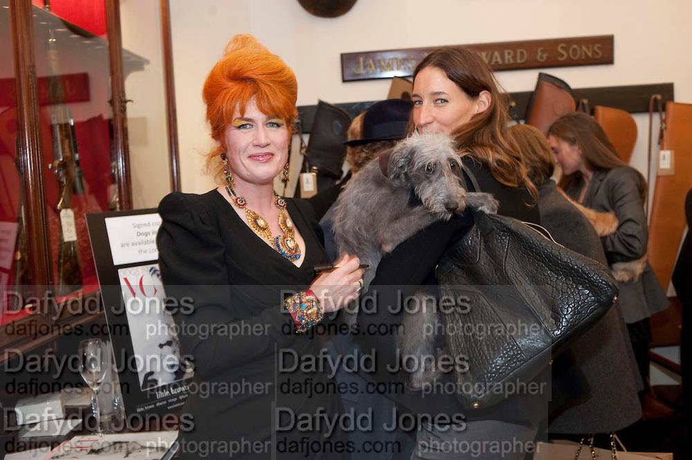JUDITH WATT;  SARAH MURRAY, Judith Watt's Dogs in Vogue BOOK LAUNCH. James Purdey and Sons. 57-58 S. Audley St. London.