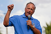 12 JUNE 2010 - PHOENIX, AZ: Congressman Steve King (R-IA), speaks to Tea Party supporters of Arizona SB 1070 at a rally in Phoenix, AZ, Saturday. About 500 people, many from California and Florida, came to Bolin Memorial Park in Phoenix Saturday. The pro SB 1070 rally was sponsored by Tea Party.   PHOTO BY JACK KURTZ
