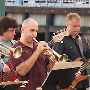 City of Yonkers presents the annual Jazz & Blues @ Dusk series at the Yonkers Amphitheatre every Friday night from mid July through the first week in September, featuring various artists. Performing here are Funkasauras Rex