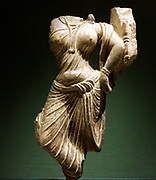 Female figure, Gandhara, AD 100-200.  Schist relief fragment.