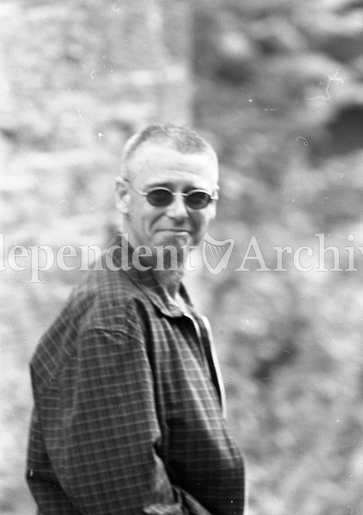 U2's Adam Clayton at the 1995 Slane Castle concert, 22/07/1995 (Part of the Independent Newspapers Ireland/NLI collection).