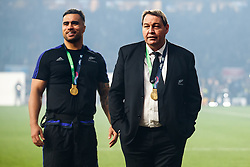 New Zealand Head Coach Steve Hansen looks on after New Zealand win the match 34-17 to become 2015 World Cup Champions - Mandatory byline: Rogan Thomson/JMP - 07966 386802 - 31/10/2015 - RUGBY UNION - Twickenham Stadium - London, England - New Zealand v Australia - Rugby World Cup 2015 FINAL.