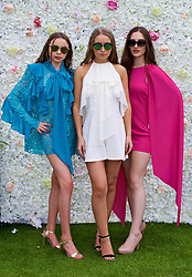 LIVERPOOL, ENGLAND - Friday, June 16, 2017: Fashion models during Day Two of the Liverpool Hope University International Tennis Tournament 2017 at the Liverpool Cricket Club. (Pic by David Rawcliffe/Propaganda)