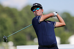 September 20, 2018 - Atlanta, Georgia, United States - Kevin Na tees off the 16th hole during the first round of the 2018 TOUR Championship. (Credit Image: © Debby Wong/ZUMA Wire)