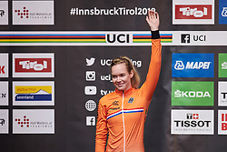 Second place finish for Anna van der Breggen (NED) at UCI Road World Championships 2018 - Elite Women's ITT, a 27.7 km individual time trial in Innsbruck, Austria on September 25, 2018. Photo by Sean Robinson/velofocus.com
