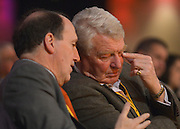 © Licensed to London News Pictures. 10/03/2013. Brighton, UK.  Simon Hughes (L) deputy leader and Paddy Ashdown talk during the Liberal Democrat Spring Conference in Brighton today 10th March 2013. Photo credit : Stephen Simpson/LNP