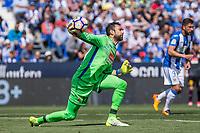 Diego Lopez of RCD Espanyol during the match of La Liga between  Club Deportivo Leganes and RCD Espanyol at Butarque  Stadium  in Leganes, Spain. April 16, 2017. (ALTERPHOTOS / Rodrigo Jimenez)