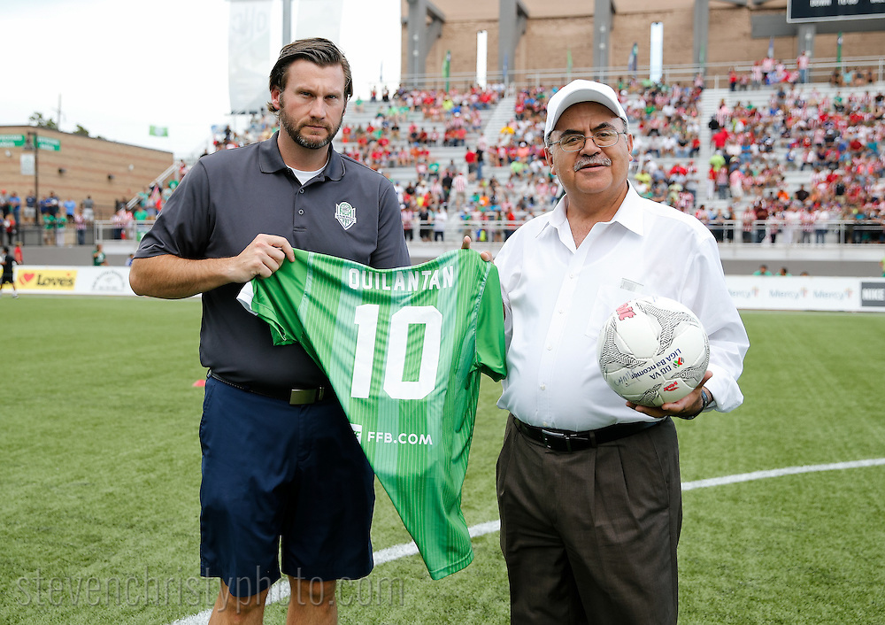 June 28, 2016: OKC Energy FC plays Chivas, whose official name is Club Deportivo Guadalajara, in a friendly at Taft Stadium in Oklahoma City, Oklahoma.