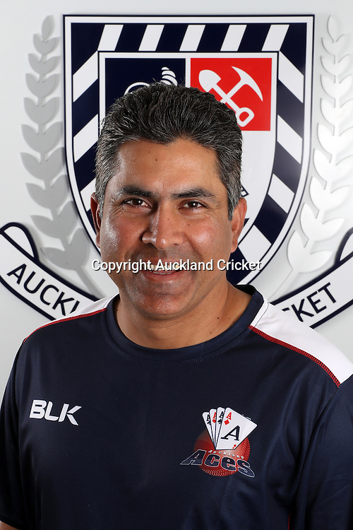 Azhar Abbas.<br /> Auckland Aces Head Shots, Eden Park Auckland, Monday 17th October 2016. Photo: Shane Wenzlick / www.phototek.nz