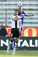 Ishack Belfodil-Giorgio Chiellini<br /> Parma 11-04-2015 Stadio Tardini, Football Calcio Serie A Parma - Juventus Foto Image Sport / Insidefoto