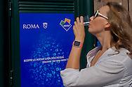 """Roma 10 Settembre 2015<br /> Inaugurata  la nuova «Casa dell'Acqua»  Acea, di fronte al Colosseo, una vera fontana hi-tech, dove si può bere gratuitamente acqua fresca a 9 gradi, sia naturale che gassata. Inoltre è possibile ricaricare cellulari e tablet.<br /> Rome September 10, 2015<br /> Inaugurated the new """"Water House"""" Acea, in front of the Colosseum, a real hi-tech fountain, where you can drink free fresh water at 9 degrees, both natural and carbonated. It is also possible to recharge phones and tablets."""