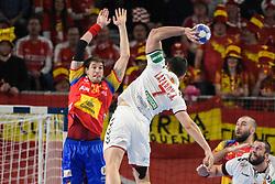 Kiril Lazarov of Macedonia during handball match between National teams of Macedonia and Spain on Day 4 in Main Round of Men's EHF EURO 2018, on January 21, 2018 in Arena Varazdin, Varazdin, Croatia. Photo by Mario Horvat / Sportida