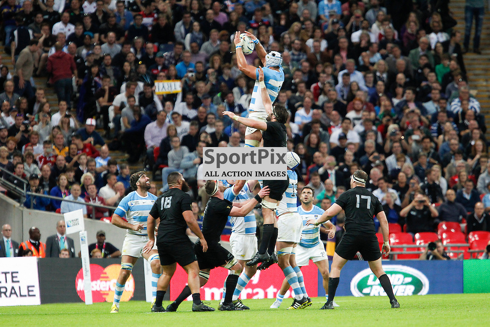 WEMBLEY, ENGLAND - SEPTEMBER 20:  Line out during the 2015 Rugby World Cup Pool C match between New Zealand and Argentina at Wembley Stadium on September 20, 2015 in London, England. (Credit: SAM TODD | SportPix.org.uk)