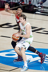 09.09.2014, City Arena, Barcelona, ESP, FIBA WM, Slowenien vs USA, im Bild Slovenia's Zoran Dragic (f) and USA's Anthony Davis // during FIBA Basketball World Cup Spain 2014 match between Slovenia and USA at the City Arena in Barcelona, Spain on 2014/09/09. EXPA Pictures © 2014, PhotoCredit: EXPA/ Alterphotos/ Acero<br /> <br /> *****ATTENTION - OUT of ESP, SUI*****