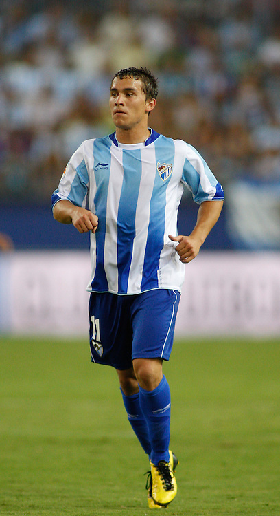 28.08.2010, Estadio La Rosaleda, Malaga, ESP, Primera Division, FC Malaga vs FC Valencia, im Bild  Sebastián Fernández the Malaga forward in action. EXPA Pictures © 2010, PhotoCredit: EXPA/ M. Gunn