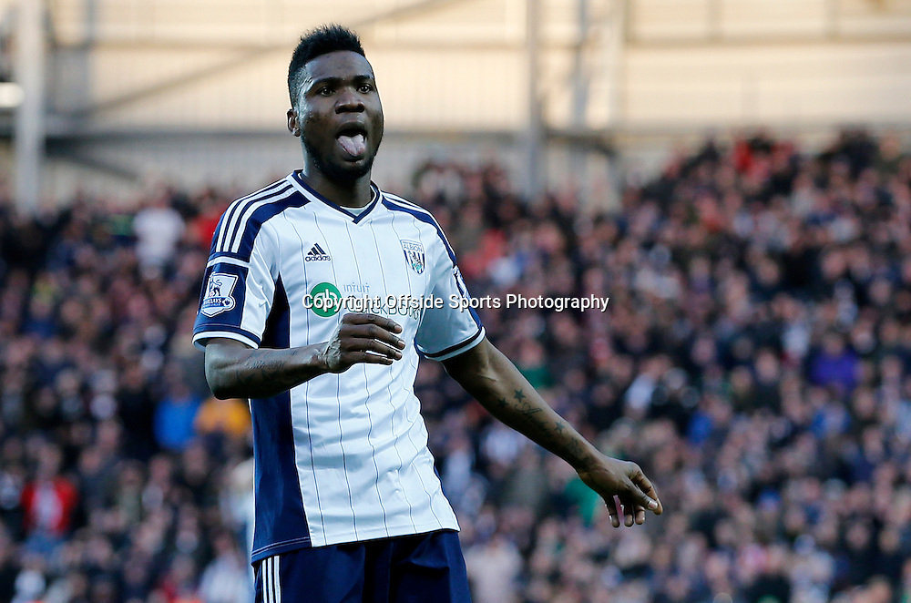 10th January 2015 - Barclays Premier League - West Bromwich Albion v Hull City - Brown Ideye of West Bromwich Albion reacts as his shot goes wide - Photo: Paul Roberts / Offside.