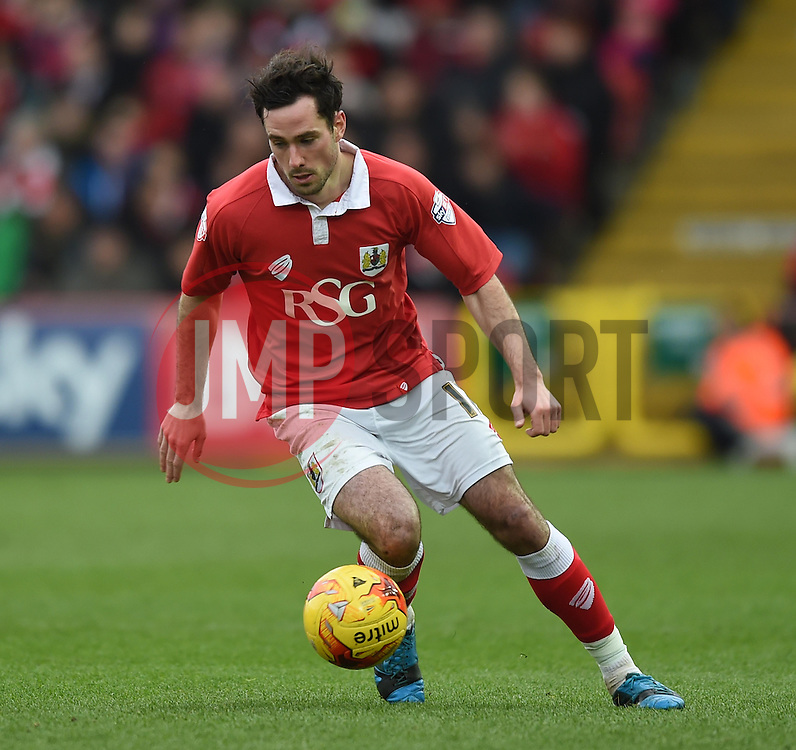 Bristol City's Greg Cunningham in action during the Sky Bet League One match between Bristol City and Rochdale at Ashton Gate on 28 February 2015 in Bristol, England - Photo mandatory by-line: Paul Knight/JMP - Mobile: 07966 386802 - 28/02/2015 - SPORT - Football - Bristol - Ashton Gate Stadium - Bristol City v Rochdale - Sky Bet League One
