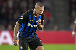 October 4, 2018 - Eindhoven, Netherlands - Radja Nainggolan of Inter during the UEFA Champions League Group B match between PSV Eindhoven and FC Internazionale Milano at Philips Stadium in Eindhoven, Holland on October 3, 2018  (Credit Image: © Andrew Surma/NurPhoto/ZUMA Press)