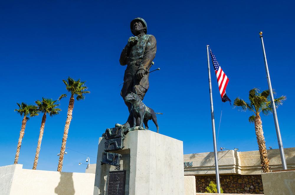 Statue of General Patton, General Patton Memorial Museum, Indio, California USA