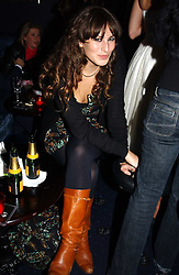 MISS CHARLOTTE DELLAL at a party hosted by Tatler magazine to celebrate the publication of the 2004 Little Black Book held at Tramp, 38 Jermyn Street, London SW1 on 10th November 2004.<br />