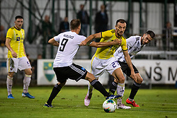 Jasmin Mešanović of Maribor and Alen Kozar of Mura and Matic Maruško of Mura during football match between NŠ Mura and NK Maribor in 4th Round of Prva liga Telekom Slovenije 2019/20, on Avgust 3, 2019 in Fazanerija, Murska Sobota, Slovenia. Photo by Blaž Weindorfer / Sportida