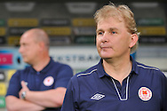 Liam Buckley trainer coach of St Patrick's during Second qualifying round UEFA Champions League soccer match between Legia Warsaw and St. Patrick's Athletic at Pepsi Arena in Warsaw, Poland.<br /> <br /> Poland, Warsaw, July 16, 2014<br /> <br /> Picture also available in RAW (NEF) or TIFF format on special request.<br /> <br /> For editorial use only. Any commercial or promotional use requires permission.<br /> <br /> Mandatory credit:<br /> Photo by © Adam Nurkiewicz / Mediasport