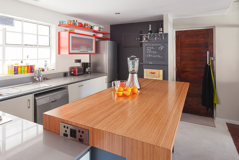 Kitchen interior, apartment remodel in Cape Town, South Africa. Two Think architects.