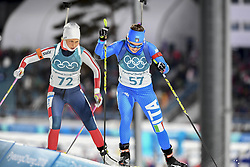 February 11, 2018 - Pyeongchang, GANGWON, SOUTH KOREA - Feb 10, 2018-Pyeongchang, South Korea-Dorothea WIERER of Italy and Ingrid Landmark TANDREVOLD of Norway action on the snow during an Olympic Biathlon Women Sprint 7.5Km at Biathlon Center in Pyeongchang, South Korea. (Credit Image: © Gmc via ZUMA Wire)