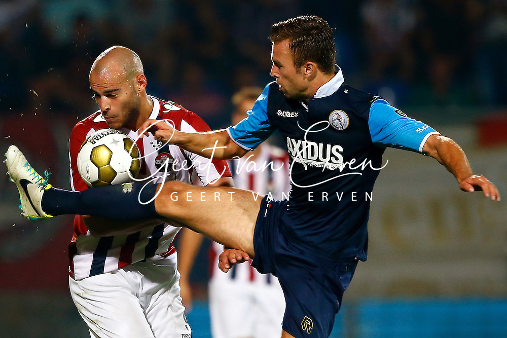 Onderwerp/Subject: Willem II - Sparta Rotterdam - Jupiler League<br /> Reklame:  <br /> Club/Team/Country: <br /> Seizoen/Season: 2013/2014<br /> FOTO/PHOTO: Ruud BOYMANS (L) of Willem II in duel with Kaj RAMSTEIJN (R) of Sparta Rotterdam. (Photo by PICS UNITED)<br /> <br /> Trefwoorden/Keywords: <br /> #04 $94 &plusmn;1372504371599<br /> Photo- &amp; Copyrights &copy; PICS UNITED <br /> P.O. Box 7164 - 5605 BE  EINDHOVEN (THE NETHERLANDS) <br /> Phone +31 (0)40 296 28 00 <br /> Fax +31 (0) 40 248 47 43 <br /> http://www.pics-united.com <br /> e-mail : sales@pics-united.com (If you would like to raise any issues regarding any aspects of products / service of PICS UNITED) or <br /> e-mail : sales@pics-united.com   <br /> <br /> ATTENTIE: <br /> Publicatie ook bij aanbieding door derden is slechts toegestaan na verkregen toestemming van Pics United. <br /> VOLLEDIGE NAAMSVERMELDING IS VERPLICHT! (&copy; PICS UNITED/Naam Fotograaf, zie veld 4 van de bestandsinfo 'credits') <br /> ATTENTION:  <br /> &copy; Pics United. Reproduction/publication of this photo by any parties is only permitted after authorisation is sought and obtained from  PICS UNITED- THE NETHERLANDS