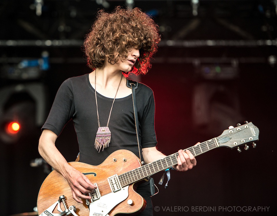 Temples play live at Field Day festival in London Victoria Park on 8 June 2014